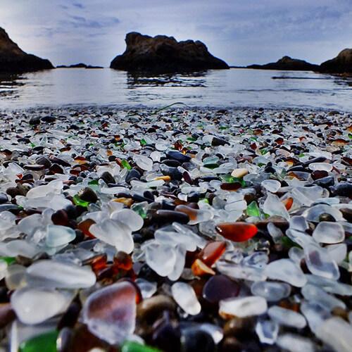 Пляж из стекла в Калифорнии-4 (1)