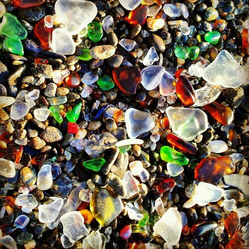 Пляж из стекла в Калифорнии-7 (1)