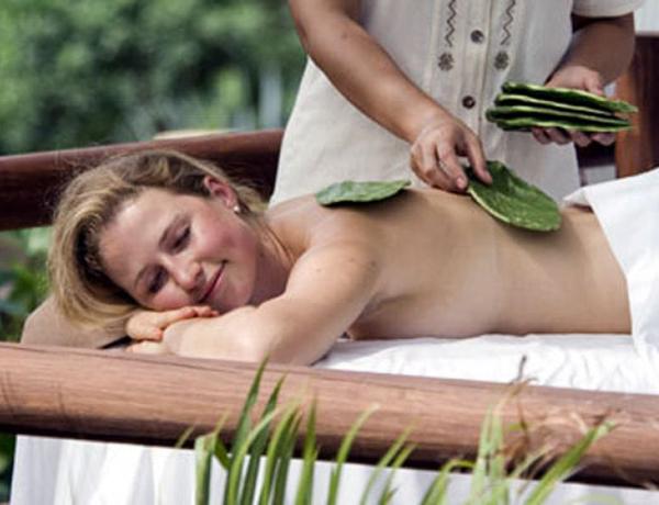 Необычные косметические процедуры, массаж кактусами