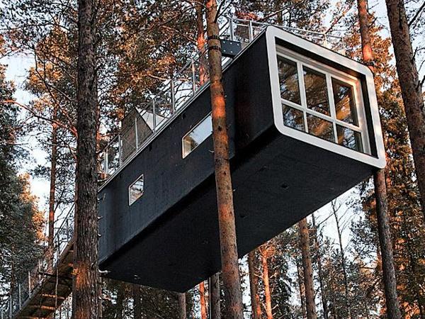 Необычные отели мира. Treehotel, Швеция