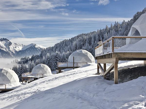 Необычные отели мира. Whitepod, Швейцария