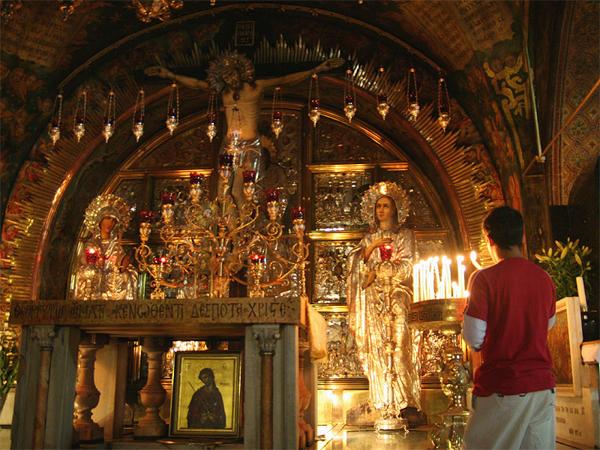 Святые места. Храм Гроба Господня, Израиль, Храм Гороба Господня внутри