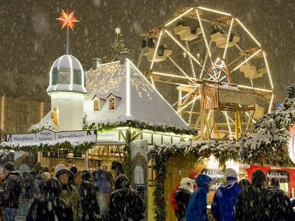 Рождественские ярмарки Европы. Dresdner Striezelmarkt. Дрезден, Германия
