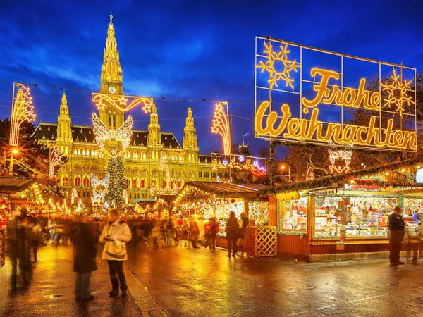 Рождественские ярмарки Европы. Wiener Christkindlmarkt.Вена, Австрия